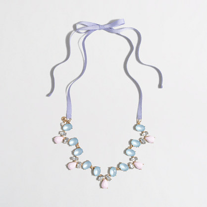 Girls' scalloped beaded necklace