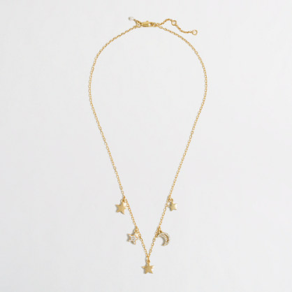 Factory girls' star charms necklace
