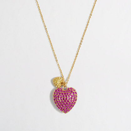 Factory girls' heart pendant necklace
