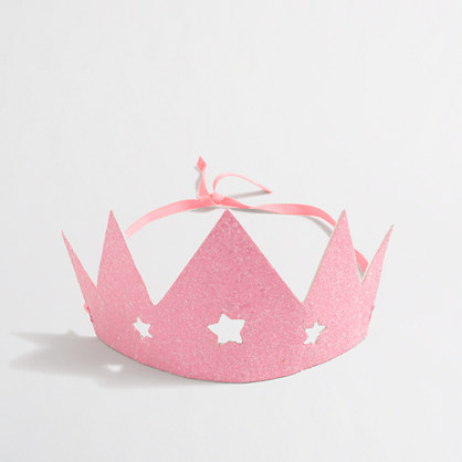 Factory girls' glitter paper tiara