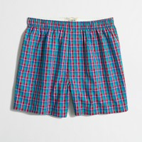 Purple and pink check boxers