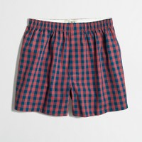 Red and navy gingham boxers