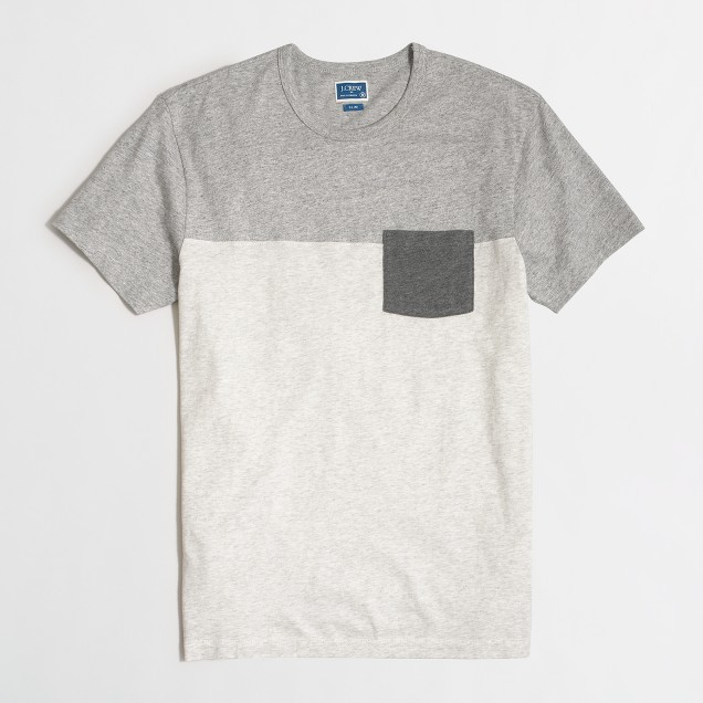 Tall slim pieced pocket T-shirt