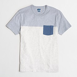 Slim pieced pocket T-shirt