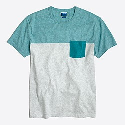 Factory slim pieced pocket T-shirt