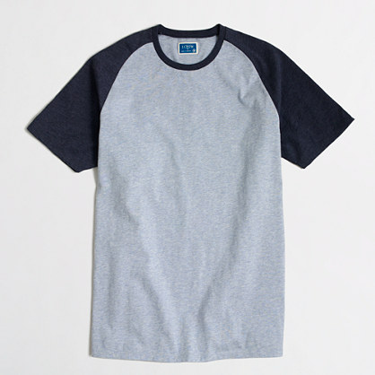 Tall short-sleeve baseball T-shirt