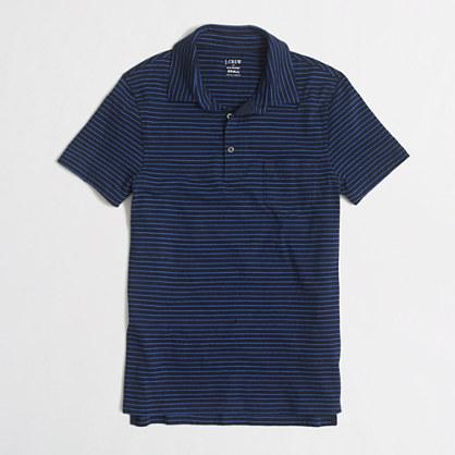 SLIM stripeD jersey polo shirt