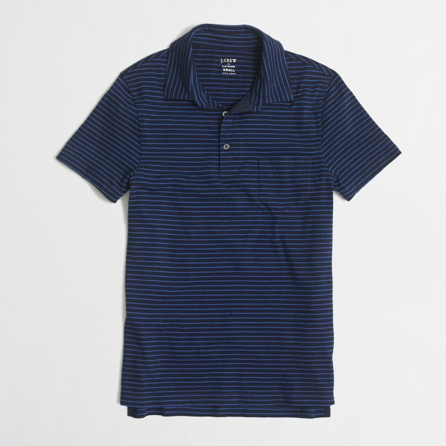 SLIM stripeD jersey polo shirt