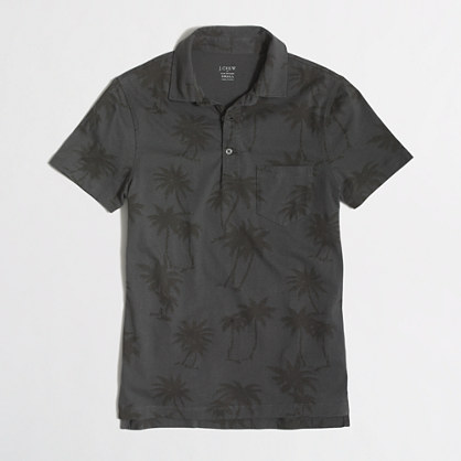Slim polo shirt in palm trees