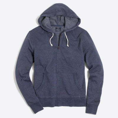 Tall lightweight fleece full-zip hoodie