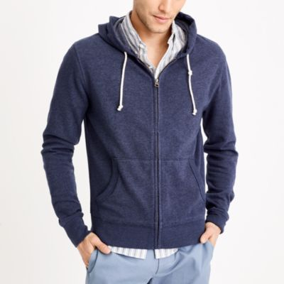 Lightweight fleece full-zip hoodie factorymen new arrivals c