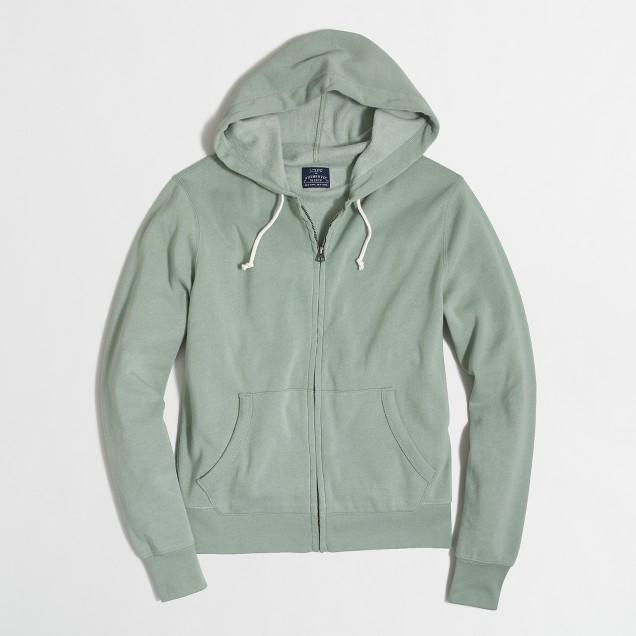 Tall lightweight fleece full-zip hoodie