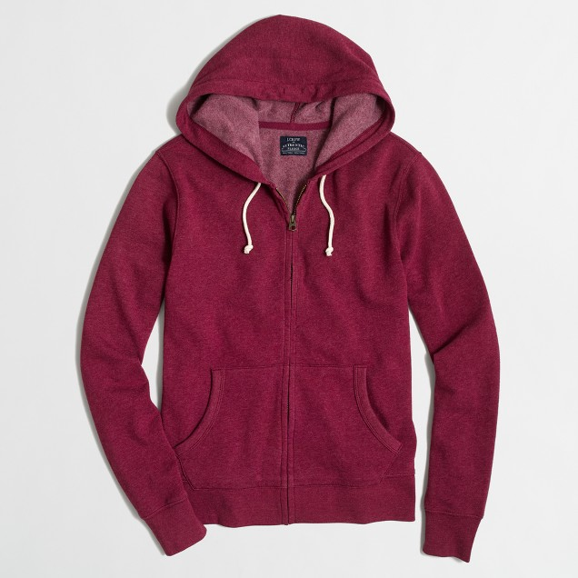 Lightweight fleece full-zip hoodie