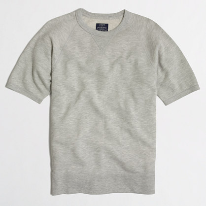 Short-sleeve fleece crewneck sweatshirt