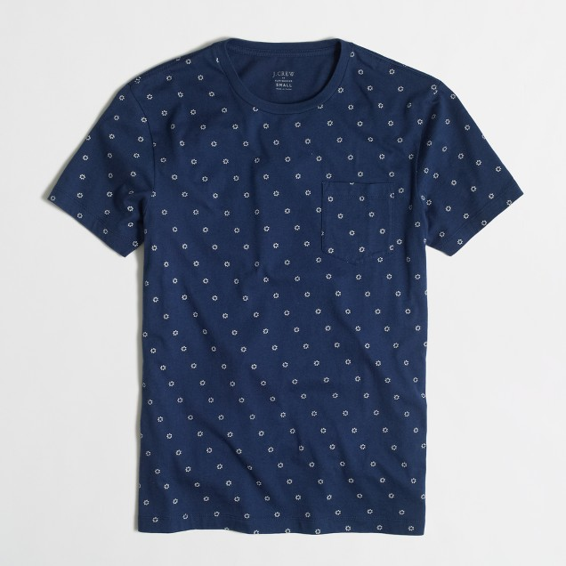 Tall indigo dot pocket t-SHIRT