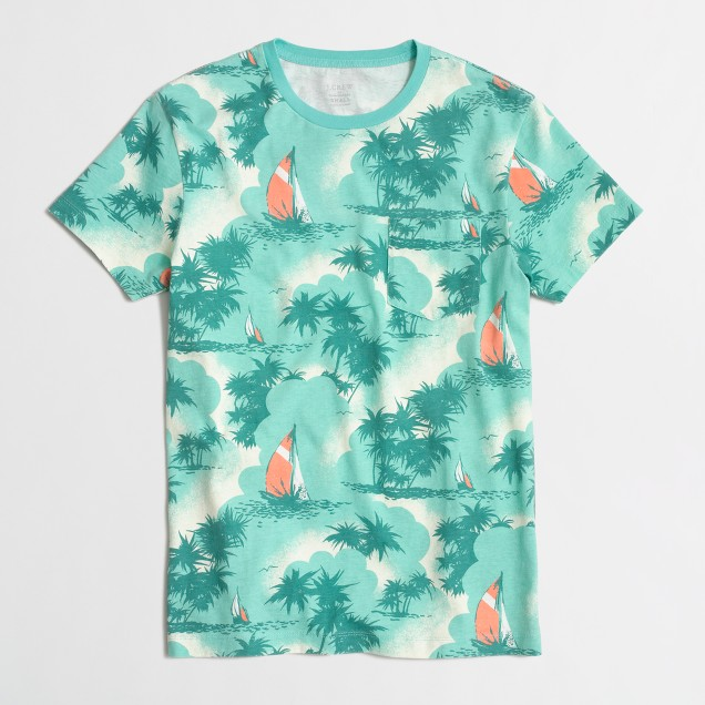 Slim t-SHIRT in tropical sailboats