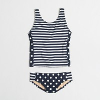 Girls' tankini two-piece set in dot