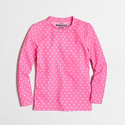 Factory girls' rash guard in dot