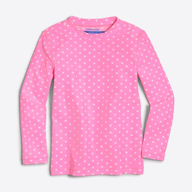 Girls' rash guard in dot