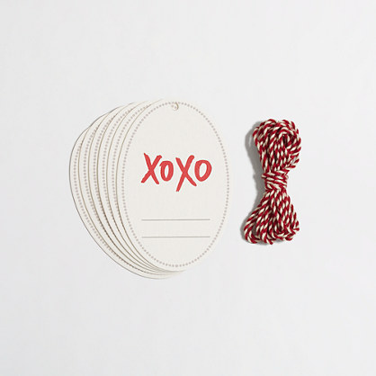 Factory printed gift tags