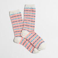 Factory Fair Isle stripe trouser socks