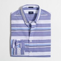 Slim washed shirt in multistripe