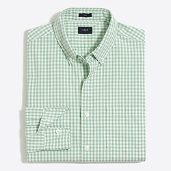 Slim washed shirt in mini-gingham