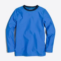 Boys' contrast rash guard