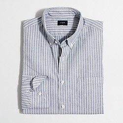 Factory washed shirt in classic stripe