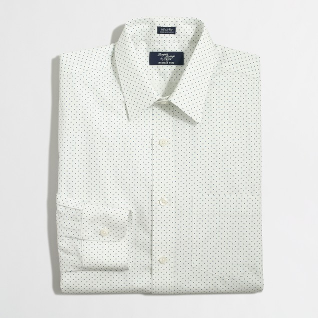 Thompson voyager printed dress shirt