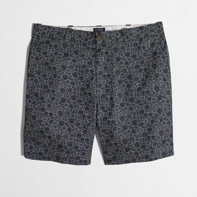 "7"" printed lightweight Reade short"