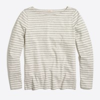 Long-sleeve striped boatneck T-shirt