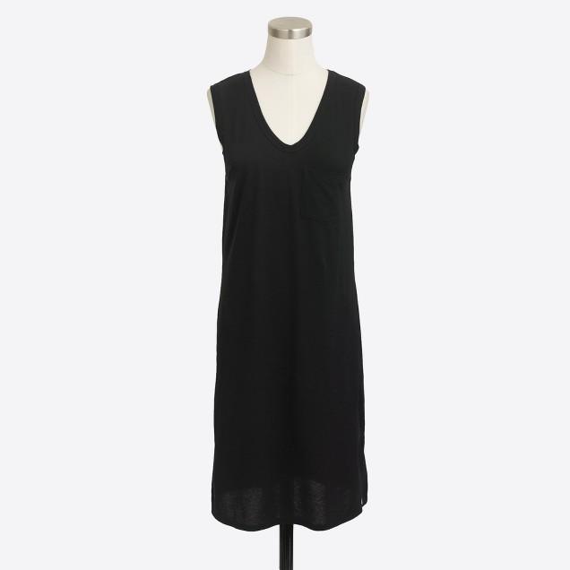 Petite jersey pocket dress