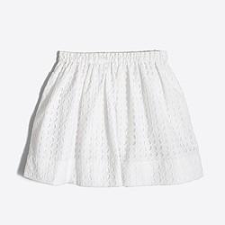 Girls' eyelet skirt