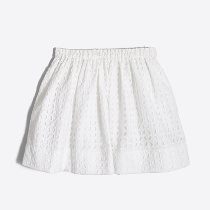 Girls' eyelet skirt