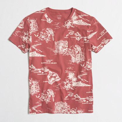 Slim Hawaii map t-SHIRT
