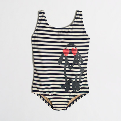 Girls' dog tank in stripe