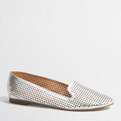 Cara metallic perforated loafers
