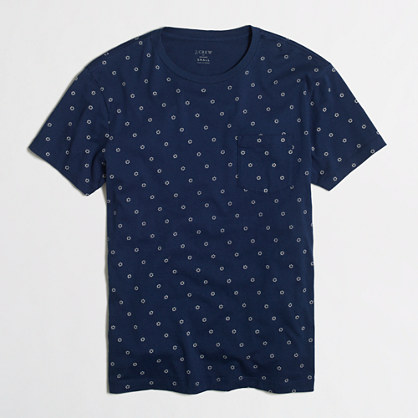 Indigo dot pocket t-SHIRT