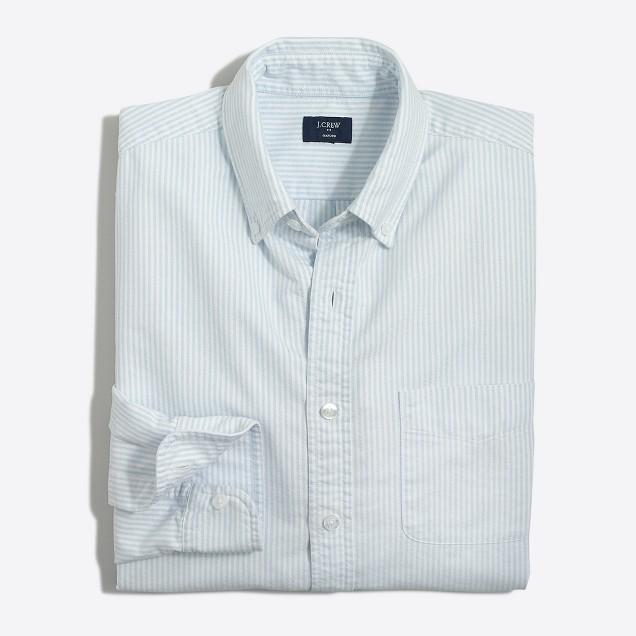 Tall slim oxford shirt in stripe