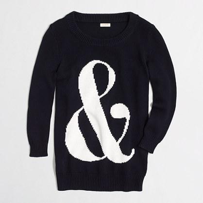 Ampersand intarsia Charley sweater