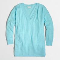 Slub cotton V-neck sweater