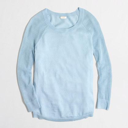 Merino mesh-sleeve sweater