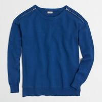 Zip-shoulder sweater