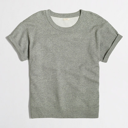 Short-sleeve double-knit sweatshirt