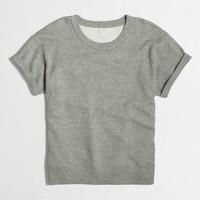 Short-sleeve double-knit sweatshirt