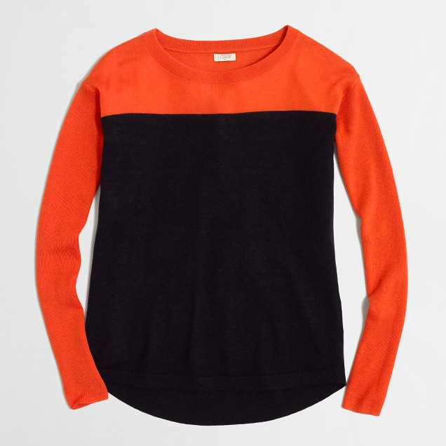 Swing sweater in colorblock