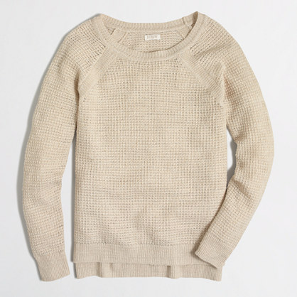 Airspun waffle beach sweater