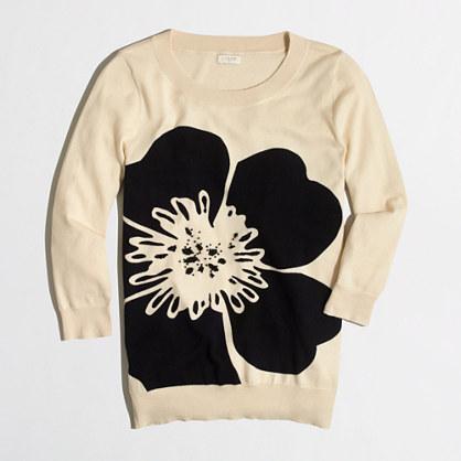 Beaded flower Charley sweater