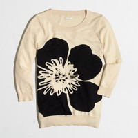 Beaded flower Charley sweater